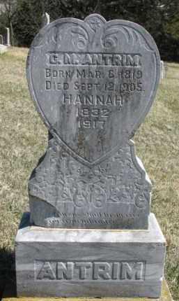ANTRIM, HANNAH - Dakota County, Nebraska | HANNAH ANTRIM - Nebraska Gravestone Photos