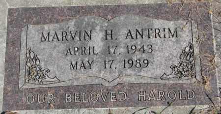 ANTRIM, H. MARVIN - Dakota County, Nebraska   H. MARVIN ANTRIM - Nebraska Gravestone Photos
