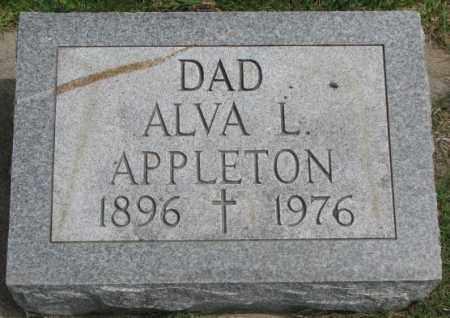 APPLETON, ALVA L. - Dakota County, Nebraska | ALVA L. APPLETON - Nebraska Gravestone Photos