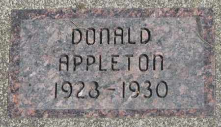 APPLETON, DONALD - Dakota County, Nebraska | DONALD APPLETON - Nebraska Gravestone Photos