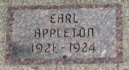 APPLETON, EARL - Dakota County, Nebraska | EARL APPLETON - Nebraska Gravestone Photos