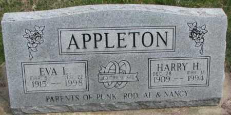APPLETON, HARRY H. - Dakota County, Nebraska | HARRY H. APPLETON - Nebraska Gravestone Photos