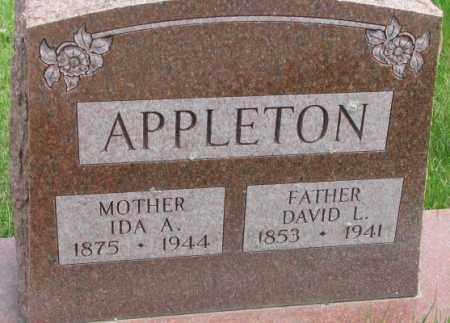 APPLETON, DAVID L. - Dakota County, Nebraska | DAVID L. APPLETON - Nebraska Gravestone Photos