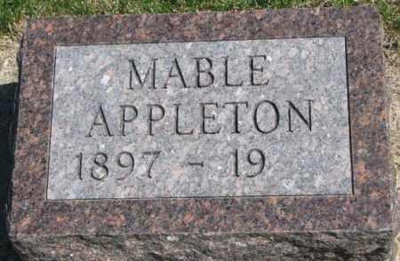 APPLETON, MABLE - Dakota County, Nebraska | MABLE APPLETON - Nebraska Gravestone Photos