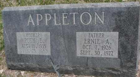 APPLETON, ERNIE A. - Dakota County, Nebraska | ERNIE A. APPLETON - Nebraska Gravestone Photos