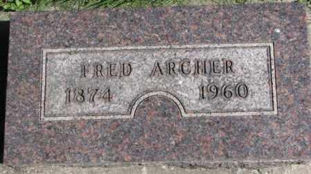 ARCHER, FRED - Dakota County, Nebraska | FRED ARCHER - Nebraska Gravestone Photos
