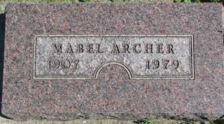ARCHER, MABEL - Dakota County, Nebraska | MABEL ARCHER - Nebraska Gravestone Photos