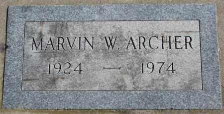 ARCHER, MARVIN W. - Dakota County, Nebraska | MARVIN W. ARCHER - Nebraska Gravestone Photos
