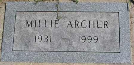 ARCHER, MILLIE - Dakota County, Nebraska   MILLIE ARCHER - Nebraska Gravestone Photos