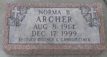 ARCHER, NORMA B. - Dakota County, Nebraska | NORMA B. ARCHER - Nebraska Gravestone Photos