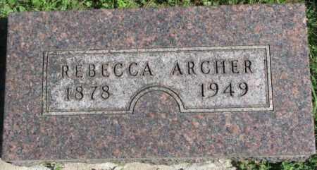 ARCHER, REBECCA - Dakota County, Nebraska | REBECCA ARCHER - Nebraska Gravestone Photos