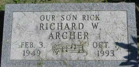 ARCHER, RICHARD W. - Dakota County, Nebraska | RICHARD W. ARCHER - Nebraska Gravestone Photos