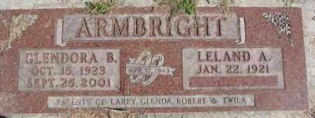 ARMBRIGHT, GLENDORA B. - Dakota County, Nebraska   GLENDORA B. ARMBRIGHT - Nebraska Gravestone Photos