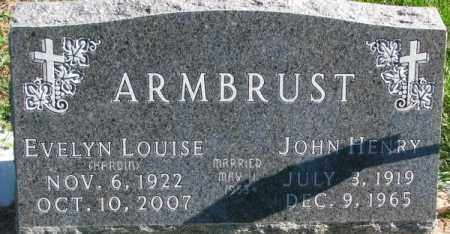ARMBRUST, EVELYN LOUISE - Dakota County, Nebraska | EVELYN LOUISE ARMBRUST - Nebraska Gravestone Photos