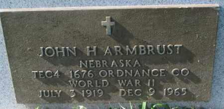 ARMBRUST, JOHN H. (WW II MARKER) - Dakota County, Nebraska | JOHN H. (WW II MARKER) ARMBRUST - Nebraska Gravestone Photos