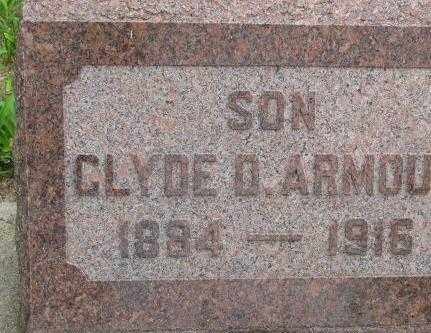 ARMOUR, CLYDE D. - Dakota County, Nebraska | CLYDE D. ARMOUR - Nebraska Gravestone Photos
