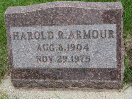 ARMOUR, HAROLD R. - Dakota County, Nebraska | HAROLD R. ARMOUR - Nebraska Gravestone Photos