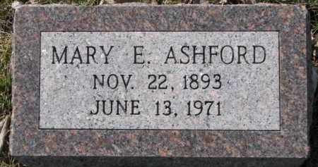 ASHFORD, MARY E. - Dakota County, Nebraska | MARY E. ASHFORD - Nebraska Gravestone Photos