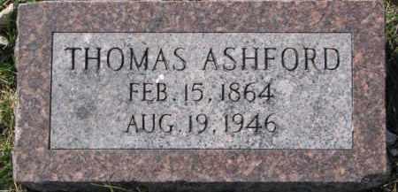 ASHFORD, THOMAS - Dakota County, Nebraska | THOMAS ASHFORD - Nebraska Gravestone Photos