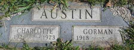 AUSTIN, GORMAN - Dakota County, Nebraska | GORMAN AUSTIN - Nebraska Gravestone Photos
