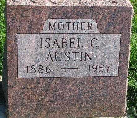 AUSTIN, ISABEL C. - Dakota County, Nebraska | ISABEL C. AUSTIN - Nebraska Gravestone Photos