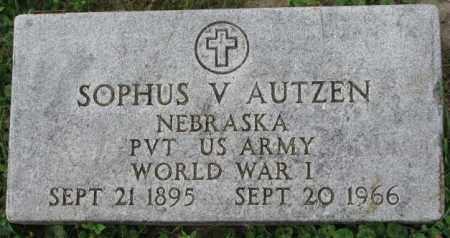 AUTZEN, SOPHUS V. - Dakota County, Nebraska   SOPHUS V. AUTZEN - Nebraska Gravestone Photos