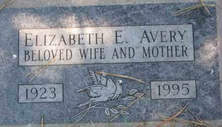 AVERY, ELIZABETH E. - Dakota County, Nebraska | ELIZABETH E. AVERY - Nebraska Gravestone Photos