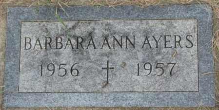 AYERS, BARBARA ANN - Dakota County, Nebraska | BARBARA ANN AYERS - Nebraska Gravestone Photos