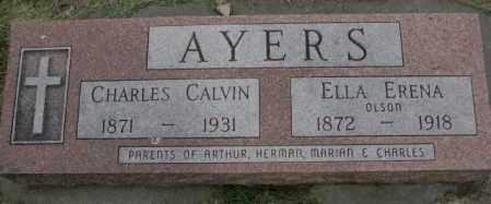 AYERS, CHARLES CALVIN - Dakota County, Nebraska | CHARLES CALVIN AYERS - Nebraska Gravestone Photos