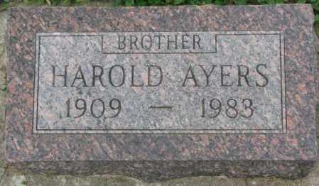 AYERS, HAROLD - Dakota County, Nebraska   HAROLD AYERS - Nebraska Gravestone Photos