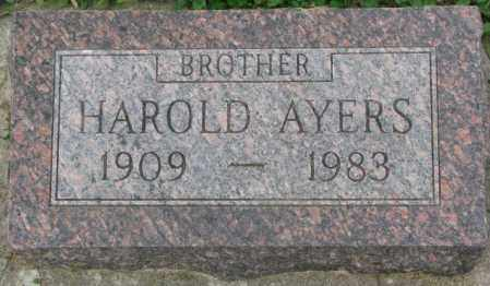 AYERS, HAROLD - Dakota County, Nebraska | HAROLD AYERS - Nebraska Gravestone Photos