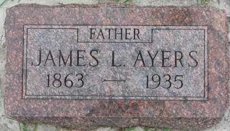 AYERS, JAMES L. - Dakota County, Nebraska | JAMES L. AYERS - Nebraska Gravestone Photos
