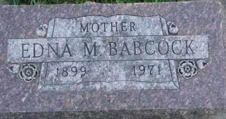 BABCOCK, EDNA M. - Dakota County, Nebraska | EDNA M. BABCOCK - Nebraska Gravestone Photos