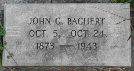 BACHERT, JOHN G. - Dakota County, Nebraska | JOHN G. BACHERT - Nebraska Gravestone Photos