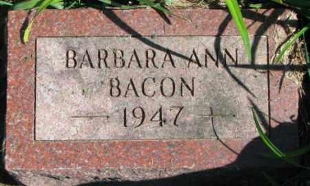 BACON, BARBARA ANN - Dakota County, Nebraska | BARBARA ANN BACON - Nebraska Gravestone Photos