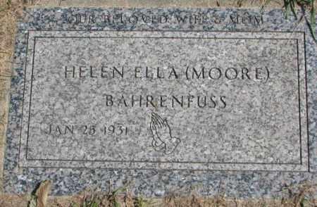 BAHRENFUSS, HELEN ELLA - Dakota County, Nebraska | HELEN ELLA BAHRENFUSS - Nebraska Gravestone Photos