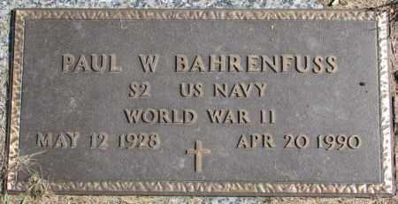 BAHRENFUSS, PAUL W. - Dakota County, Nebraska   PAUL W. BAHRENFUSS - Nebraska Gravestone Photos