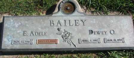 BAILEY, E. ADELE - Dakota County, Nebraska | E. ADELE BAILEY - Nebraska Gravestone Photos