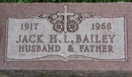 BAILEY, JACK H. - Dakota County, Nebraska | JACK H. BAILEY - Nebraska Gravestone Photos