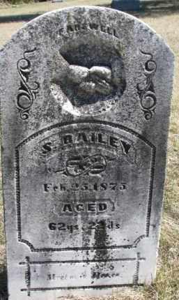 BAILEY, S. - Dakota County, Nebraska   S. BAILEY - Nebraska Gravestone Photos