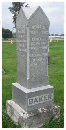 BAKER ECKHART, DORA L. - Dakota County, Nebraska | DORA L. BAKER ECKHART - Nebraska Gravestone Photos