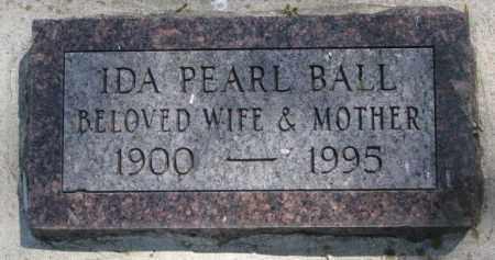BALL, IDA PEARL - Dakota County, Nebraska | IDA PEARL BALL - Nebraska Gravestone Photos