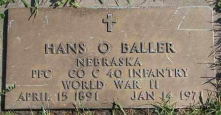 BALLER, HANS O. - Dakota County, Nebraska | HANS O. BALLER - Nebraska Gravestone Photos