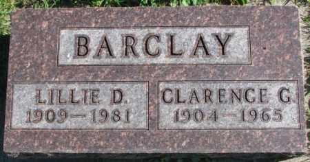 BARCLAY, LILLIE D. - Dakota County, Nebraska | LILLIE D. BARCLAY - Nebraska Gravestone Photos