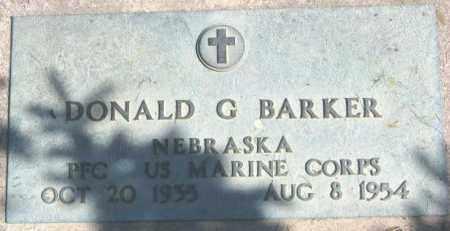 BARKER, DONALD G. - Dakota County, Nebraska | DONALD G. BARKER - Nebraska Gravestone Photos
