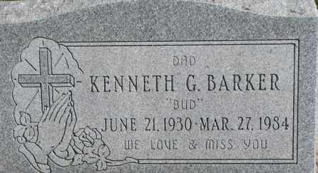 BARKER, KENNETH G. - Dakota County, Nebraska | KENNETH G. BARKER - Nebraska Gravestone Photos