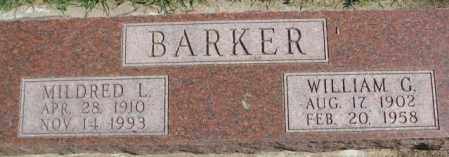 BARKER, MILDRED L. - Dakota County, Nebraska | MILDRED L. BARKER - Nebraska Gravestone Photos
