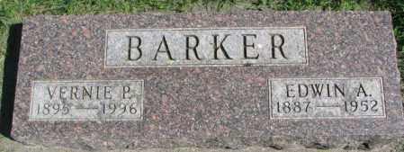 BARKER, VERNIE P. - Dakota County, Nebraska | VERNIE P. BARKER - Nebraska Gravestone Photos