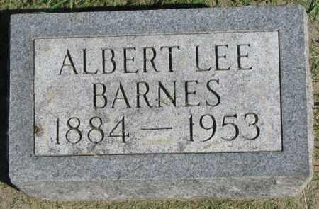 BARNES, ALBERT LEE - Dakota County, Nebraska   ALBERT LEE BARNES - Nebraska Gravestone Photos