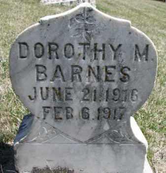 BARNES, DOROTHY M. - Dakota County, Nebraska   DOROTHY M. BARNES - Nebraska Gravestone Photos